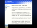 Homepage of the eventwebsite